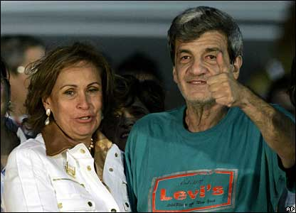 Jorge Gechem with his wife Claudia del Carmen