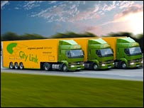 City Link lorries