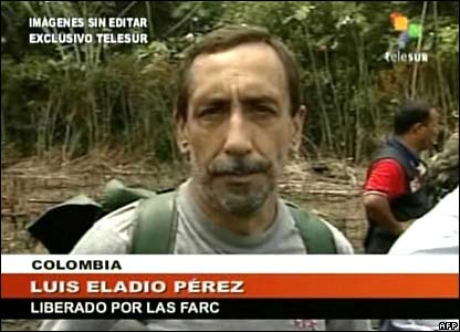 Venezuelan TV image of Luis Eladio Perez