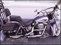 A Harley Davidson motorbike (file photo)