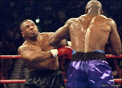 Holyfield fights back against Tyson