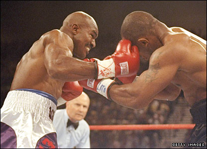 Holyfield lands shots on Tyson