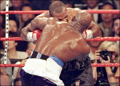Tyson and Holyfield collide