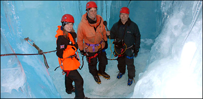 In the crevasse