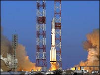 Russian Proton-M rocket blasts into space at Kazakhstan's Baikonur cosmodrome