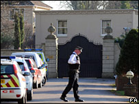 House of Badri Patarkatsishvili on the day he was found dead