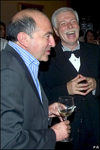 Boris Berezovsky with Badri Patarkatsishvili (right)