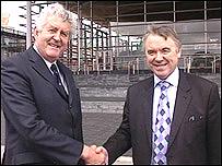 Labour's Rhodri Morgan and Plaid Cymru's Ieuan Wyn Jones