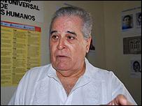 Elizardo S�nchez, presidente de la Comisi�n de Derechos Humanos de Cuba.