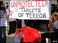 Protest against the Israeli government in Jerusalem by residents of Sderot (17 February 2008)