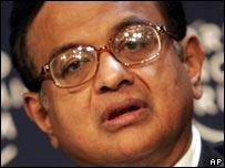 Indian Finance Minister Palaniappan Chidambaram