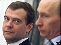 Medvedev y Putin.