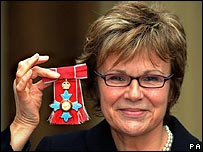 Julie Walters with her CBE