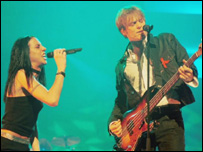 Mel C and Bryan Adams