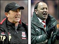 Stoke boss Tony Pulis (left) and Bristol City manager Gary Johnson