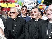 Marcha cat�lica contra matrimonio homosexual.