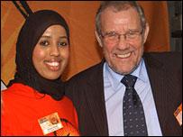 Zaynab Ahmed and Richard Caborn