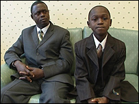 Felix Yeboah (right) and his father Michael
