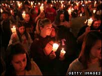 Memorial service at Virginia Tech, Getty