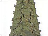 Mary Magdalene's damaged steeple