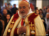Patriarch Emmanuel III Delly of Babylon, leader of the ancient Chaldean Church, 24 December 2007