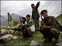 PKK guerrillas in Iraqi Kurdistan (November 2006)
