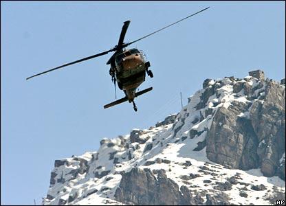 Turkish helicopter in border region