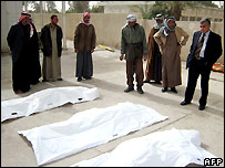 Bodies of family killed by gunmen in Baquba, north of Baghdad - 19/02/2008