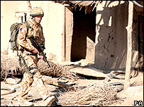 Prince Harry on patrol in Afghanistan
