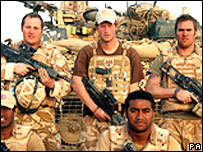 Prince Harry with his battle group