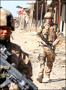 On patrol in Garmsir in January