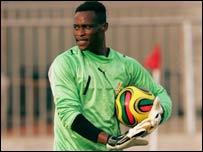 Ghana goalkeeper Sammy Adjei