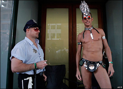 Participants in Sydney's gay and lesbian Mardi Gras parade