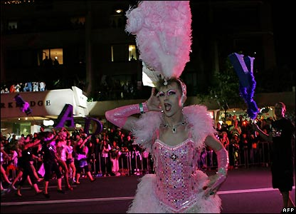 Participant in Sydney's gay and lesbian Mardi Gras parade