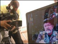 Imagen televisiva de Raúl Reyes