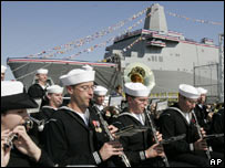 USS New York christened at Northrop Grumman shipyard in Avondale
