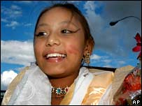 Sajani Shakya, revered as a living goddess in Nepal, aged 10 in 2007