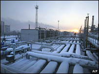 Yuzhno Russkoye natural gas field facility in Siberia