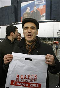 "Former chess champion Gary Kasparov protests against election ""farce"""