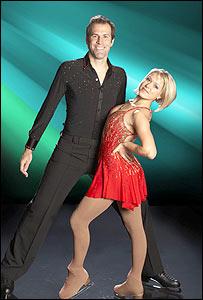 Greg Rusedski and partner Kristina Lenko