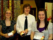 Amy Mathews, Peter Glasgow and Fionnuala Ward