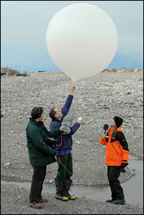 Launch of scientific balloon. Image: BBC