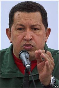 Hugo Ch�vez fustiga al gobierno de Colombia.
