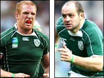 Paul O'Connell and Rory Best (right)