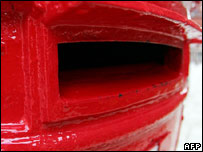 Close up of a post box
