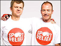 Adrian Chiles and Alan Shearer gear up for Sport Relief Super Cycle