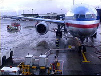 The American Airlines plane