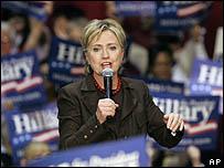 هيلاري تلقي خطابا في تكساس