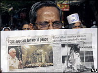 Indian Christians protest violence in Orissa