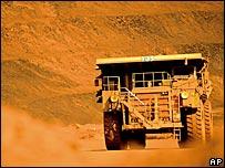 BHP Billiton iron ore mine in Australia